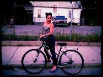 woman on a bike